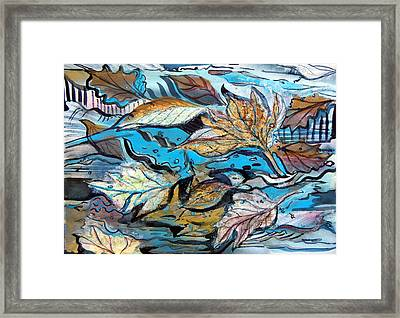 Frozen Pond Framed Print by Mindy Newman