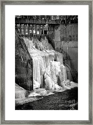 Framed Print featuring the photograph Frozen Power by Olivier Le Queinec