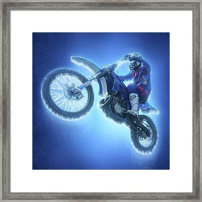 Freestyle Motocross Frozen Racer Framed Print