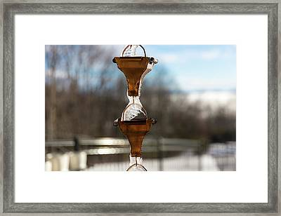 Frozen Rain Chains Framed Print
