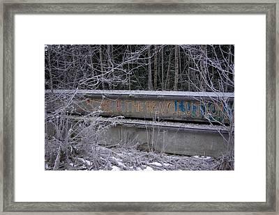 Frozen Revolution Framed Print