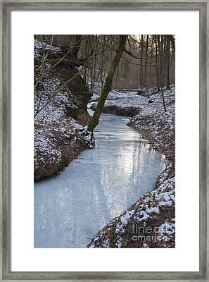 Frozen River, Germany Framed Print by Bernd Rohrschneider