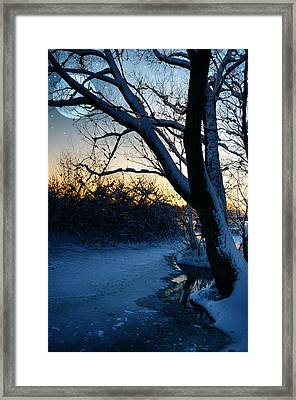 Frozen River Framed Print by  Jaroslaw Grudzinski