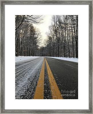 Frozen Road In Life Framed Print by Michael Krek