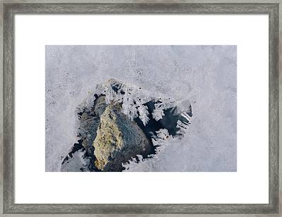 Frozen Rock Framed Print