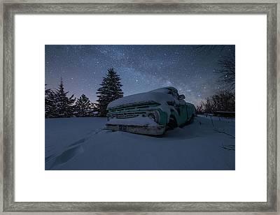 Framed Print featuring the photograph Frozen Rust  by Aaron J Groen
