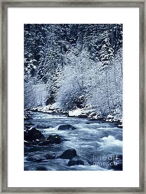 Frozen Salt Creek Framed Print by Greg Vaughn - Printscapes