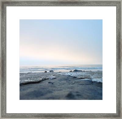 Frozen Sands Framed Print