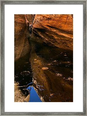 Frozen Slot Framed Print by Mike  Dawson