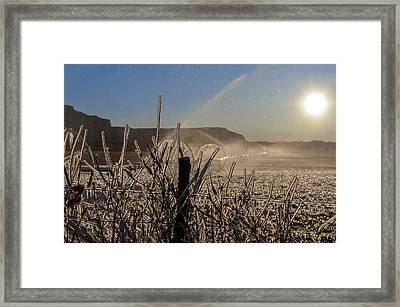Frozen Sunrise Framed Print