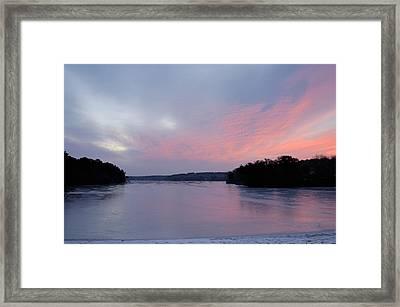 Frozen Sunrise Framed Print by Mimi Katz