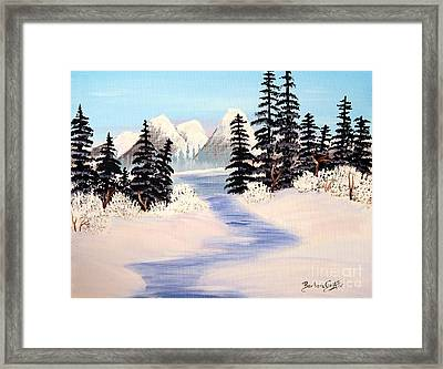 Frozen Tranquility Framed Print