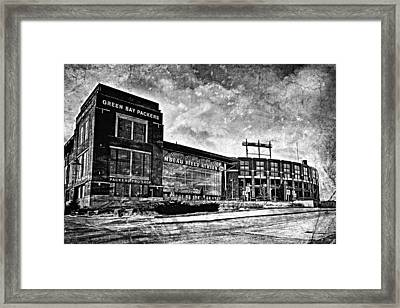 Frozen Tundra - Black And White Framed Print