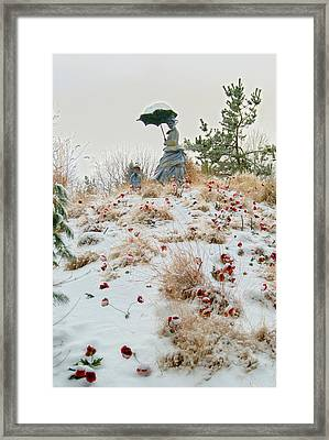 Frozen Viewpoint Framed Print by Timothy Hedges