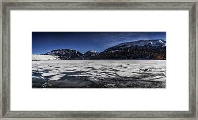 Framed Print featuring the photograph Frozen Wallowa Lake by Cat Connor