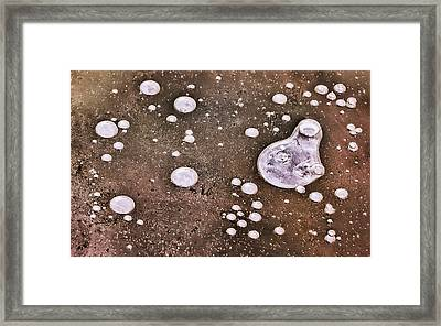Framed Print featuring the photograph Frozen Water Drops Abstract by Gary Slawsky