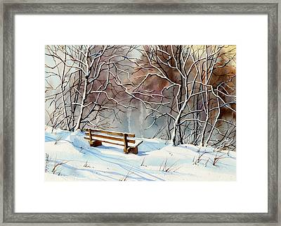 Frozen  View Framed Print by Art Scholz