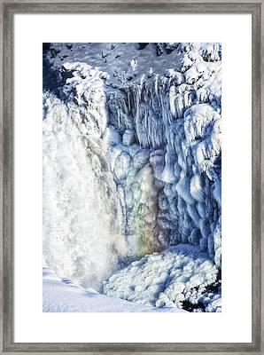 Frozen Waterfall Gullfoss Iceland Framed Print by Matthias Hauser