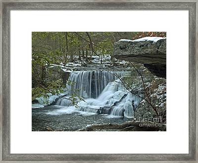 Frozen Waterfalls Framed Print by Robert Pilkington