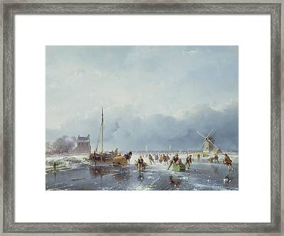 Frozen Winter Scene Framed Print