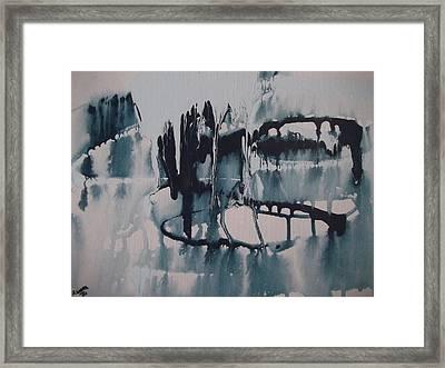 Frozen World Framed Print by Rivka Waas
