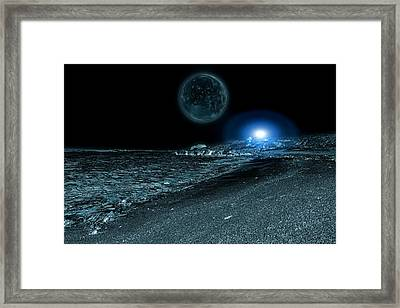 Frozen World Framed Print