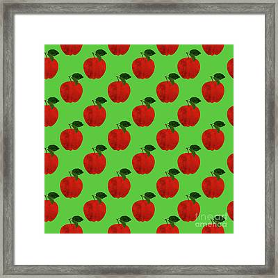 Fruit 02_apple_pattern Framed Print