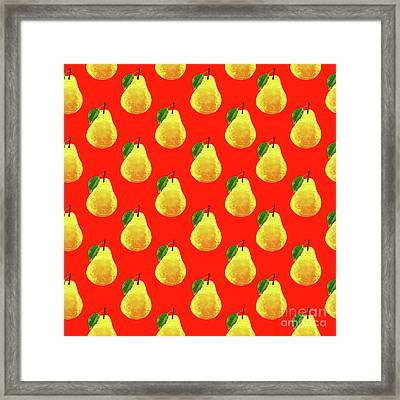 Fruit 03_pear_pattern Framed Print by Bobbi Freelance