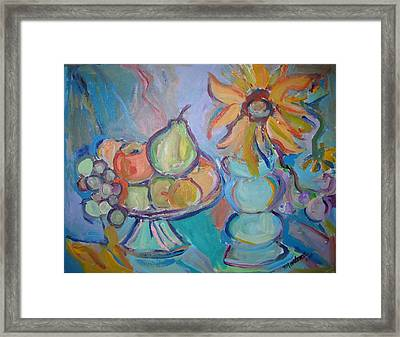 Fruit And Flowers 2 Framed Print by Marlene Robbins