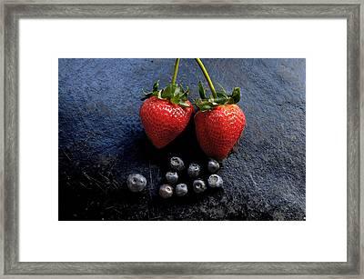 Fruit And Slate Framed Print by Jon Daly