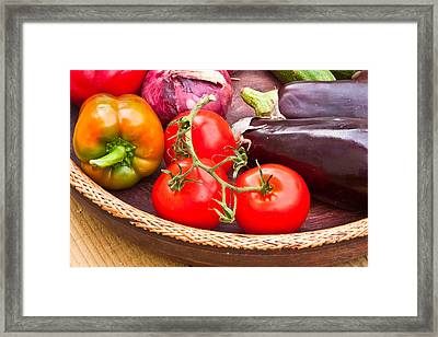 Fruit And Vegetables Framed Print by Tom Gowanlock