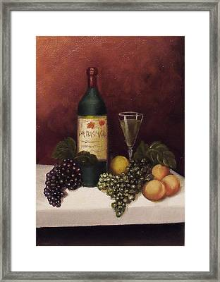 Fruit And Wine  B Framed Print by Helen Thomas