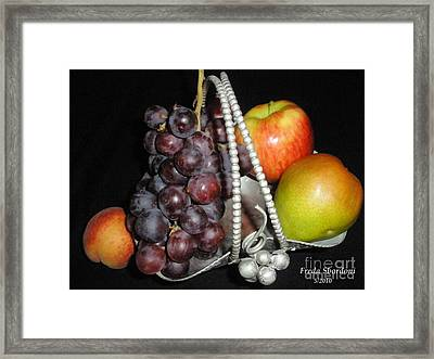 Fruit Basket II Framed Print by Freda Sbordoni