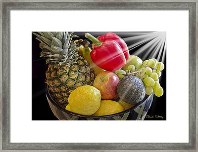 Fruit Bowl Framed Print by Chuck Staley