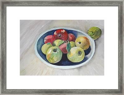 Fruit Bowl For Health Framed Print by Janna Columbus