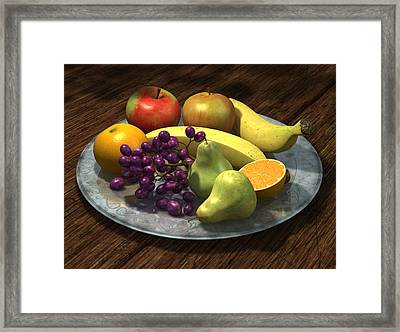 Fruit Bowl Framed Print by Martin Davey