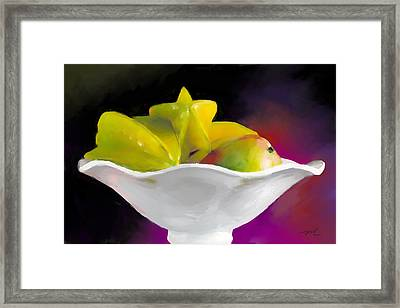 Fruit Bowl Framed Print by Michelle Wiarda