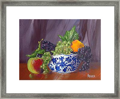 Fruit Bowl Framed Print by Pete Maier