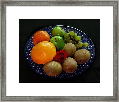 Fruit Dish Framed Print by Peter Piatt