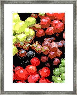 Fruit Expression One - Grapes Framed Print