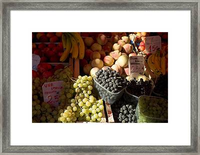 Fruit For Sale At The Rialto Market Framed Print by Todd Gipstein