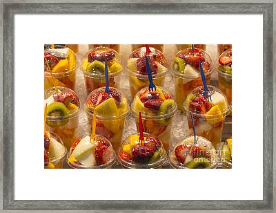 Fruit Juice Framed Print by Svetlana Sewell