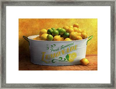 Fruit - Lemons - When Life Gives You Lemons Framed Print