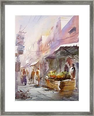 Fruit Market Lahore Framed Print by MKazmi Syed
