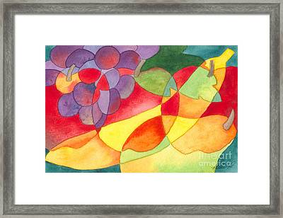 Fruit Montage Framed Print