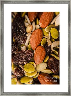Fruit Nut And Seed Snack Mix Framed Print