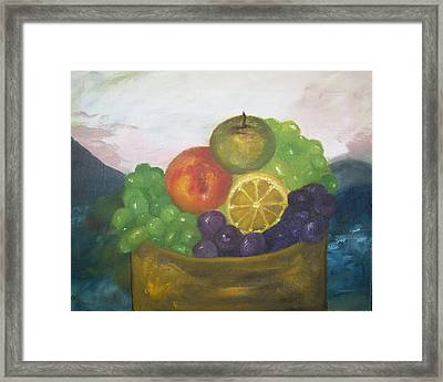 Fruit Of The Land Framed Print by Pamela Wilson
