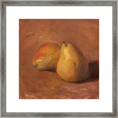 Fruit Of The Spirit- Pear 1 Framed Print by Timothy Chambers