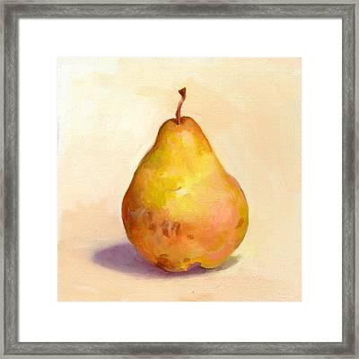 Fruit Of The Spirit- Pear 3 Framed Print