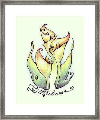 Fruit Of The Spirit Series 2 Faithfulness Framed Print
